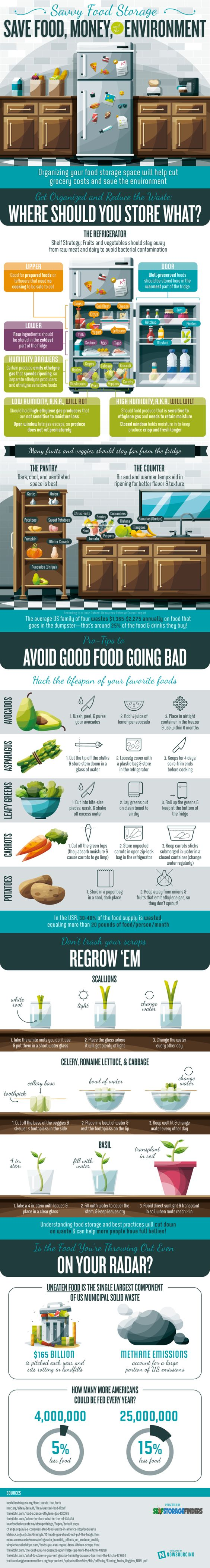 This Infographic Shows the Best Places to Store Different Types of Food in Your Kitchen