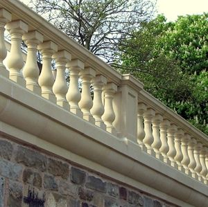 Ballustrade. love for balcony attached to home