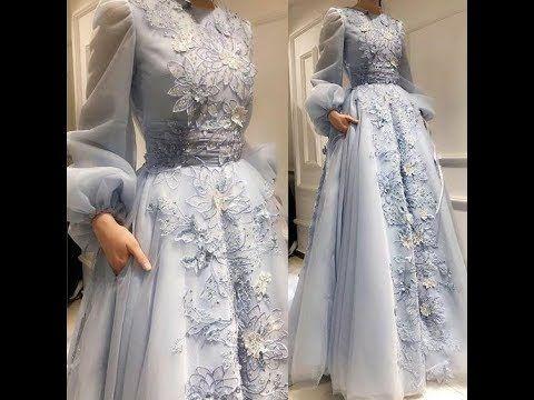تشكيلة ملابس محجبات للسهرة أجمل فساتين سهرة لعام 2019 توووووب Youtube Soiree Dress Prom Dresses Long With Sleeves Fashion Dress Party