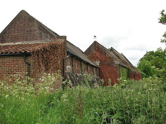 File:A row of brick barns - geograph.org.uk - 820628.jpg