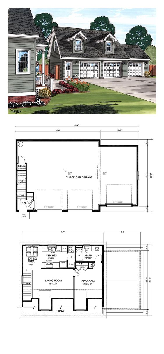 Garage apartment plans apartment plans and garage for Live in garage plans