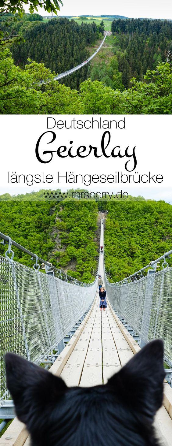 die geierlay br cke im hunsr ck ist mit 360 meter die l ngste h ngeseilbr cke in deutschland. Black Bedroom Furniture Sets. Home Design Ideas