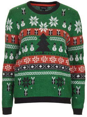 Pin for Later: Deck Yourself With Boughs of Holly For Christmas Jumper Season Topshop Women's Christmas Fairisle Sweater Topshop Women's Christmas Fairisle Sweater (£40)