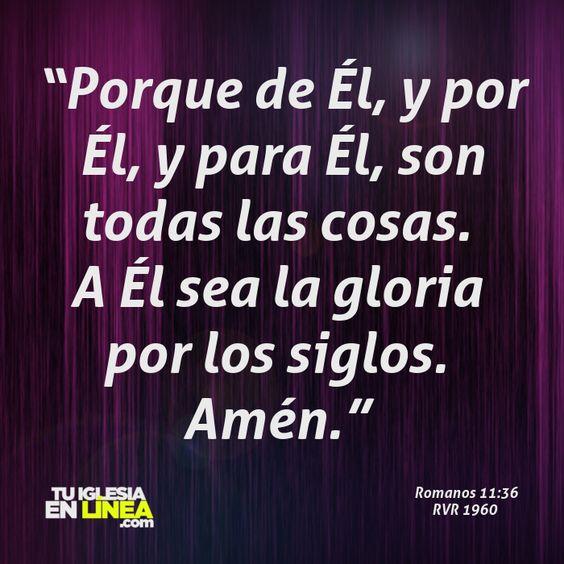 Toda la gloria es de Dios. #tuiglesiaenlinea