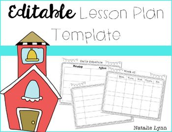 I use this lesson plan template to plan my daily schedule for Take what you need template
