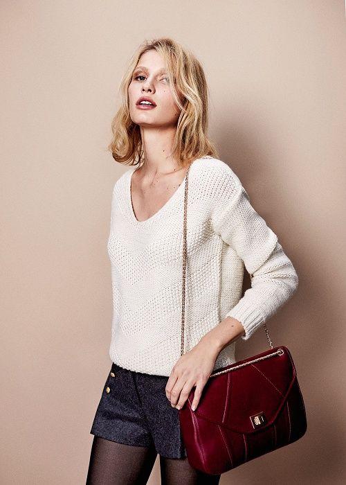 Un pull avec un short (et des collants). C'est un look que j'adore pour l'automne et l'hiver.