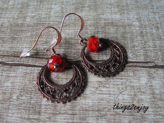 """Ohrhänger """"Lampwork"""" in rot von things2enjoy auf DaWanda.com"""