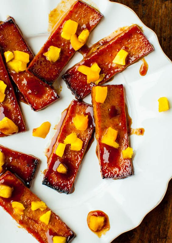 BBQ Tofu with Pineapple and Mango