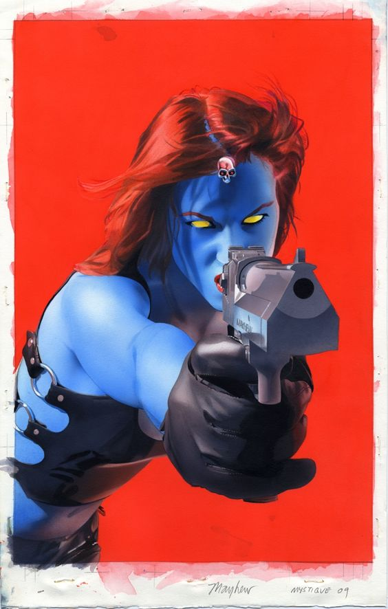 Mystique 10 Cover Painting by ~mikemayhew on deviantART
