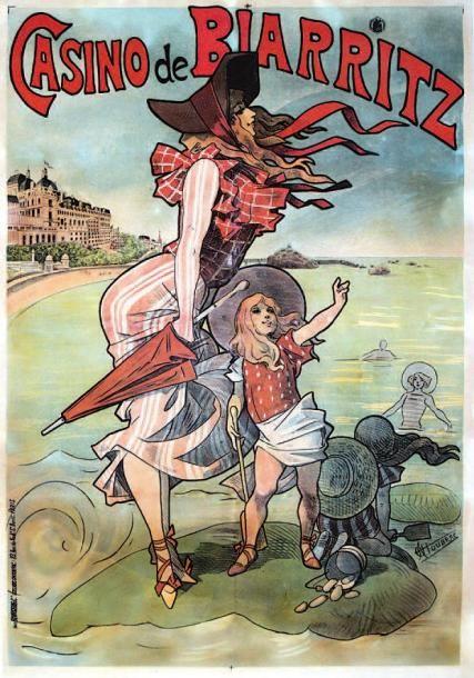 Casino de Biarritz -Pyrénées-Atlantiques - illustration de Choubrac -