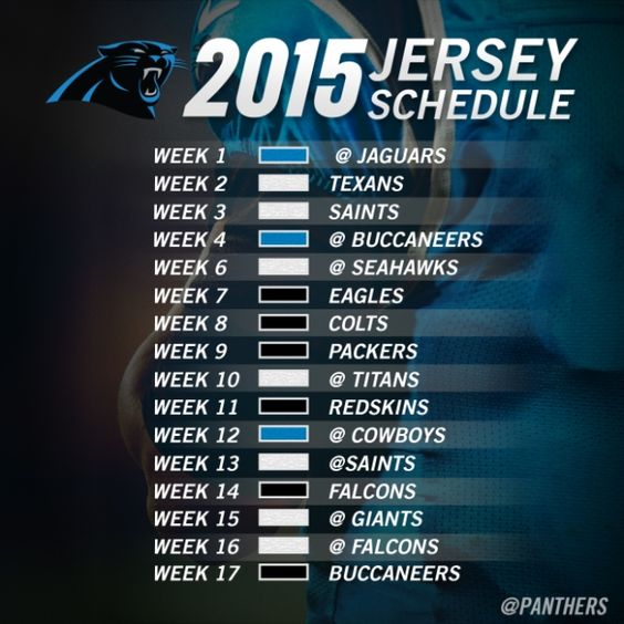 NFL Jerseys NFL - 2015 jersey color schedule | Panthers Pride! | Pinterest ...