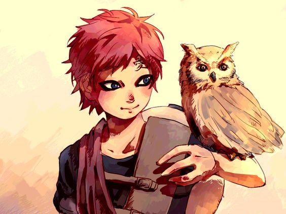 フクロウと我愛羅