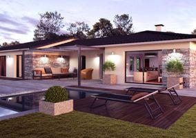 maison de plain pied nergie positive d tail du plan de maison de plain pied nergie. Black Bedroom Furniture Sets. Home Design Ideas