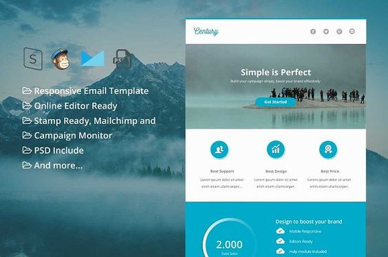 Twinkle - Responsive Email Template by pennyblack on - responsive email template