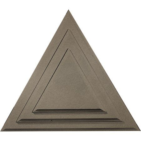 19 W X 16 5 8 H X 1 1 8 P Triangle Ceiling Medallion Hand Painted Warm Silver Walmart Com Ceiling Medallions Ekena Millwork Millwork