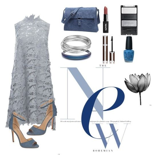 """""""grey&blue"""" by eysari ❤ liked on Polyvore featuring Alexis Bittar, Keepsake the Label, New Look, Givenchy, Worthington and OPI"""