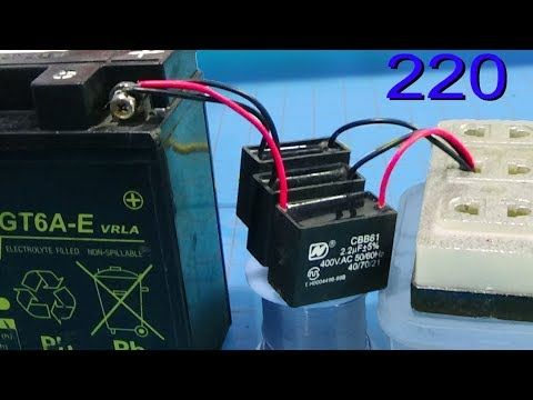 How To Charge The Battery With Fan Capacitor Without Transformer Youtube Battery Repair Diy Generator Diy Electronics