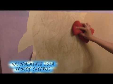 Quita el papel pintado facilmente - YouTube