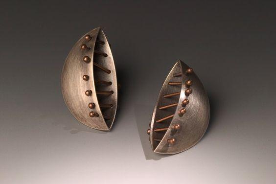 Earrings | Baharal Gnida.: Design Xxxx, Artists Talya, Jewelry Design, Baharal Jewelry, Monika Yzchaki Baharal Gnida, Jewelry Inspirations Earrings, Art Jewelry Earrings, Brass Copperjewelry, Handmade Jewelry