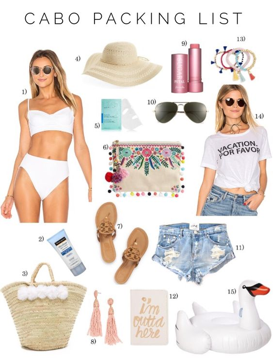 What to pack for Mexico - Cabo Packing List - Vacation Packing List