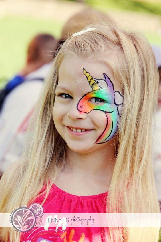 unicorn face paint kinderschminken pinterest regenbogen einhorn einh rner und regenb gen. Black Bedroom Furniture Sets. Home Design Ideas