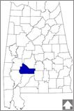 Wilcox County--With more than 50 boat landings on the Alabama River, Wilcox County was an important transportation site in the 19th century. It is home to the nationally renowned Gee's Bend quilters.