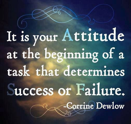 Be positive always, never think negative :)