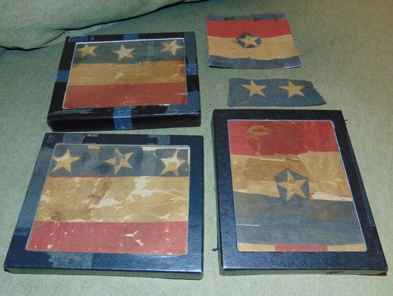 ESTATE COLLECTION Antique AMERICAN FLAG Fragments UNIDENTIFIED PERIOD