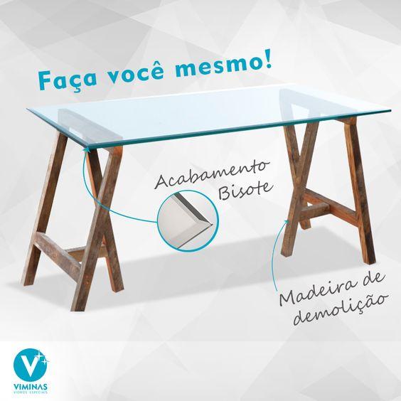 Use e abuse da criatividade com economia para a mesa do - Mesas de escritorio ...
