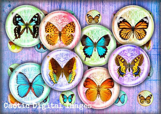 Digital collage sheets Butterfly printable by CaoticDigitalImages