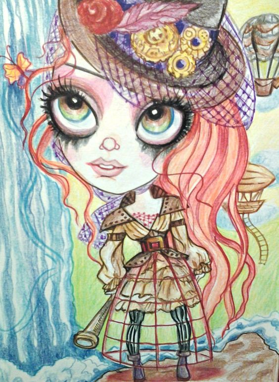 Hey, I found this really awesome Etsy listing at https://www.etsy.com/listing/219036534/steampunk-art-steampunk-girl-victorian