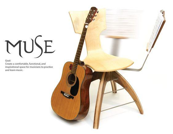 Ergonomic Guitar Practice Chair Guitar Amp Music Inspired