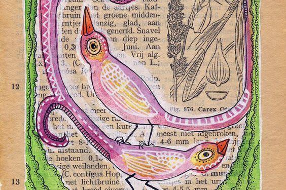 Peindre dans des livres, j'adore!