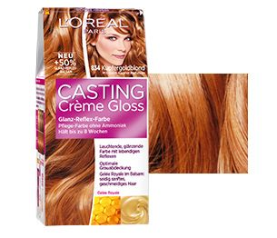 coloration casting crme gloss 834 kupfergoldblond - Coloration Casting