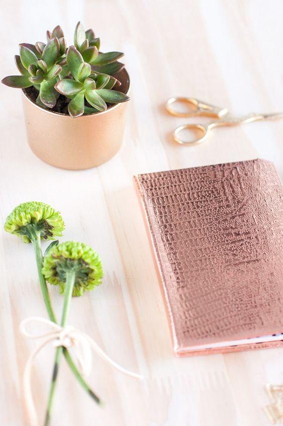 DIY capa de caderno personalizada
