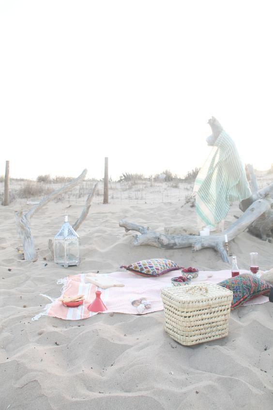 quedamos en un picnic. cesta de picnic. dar amïna