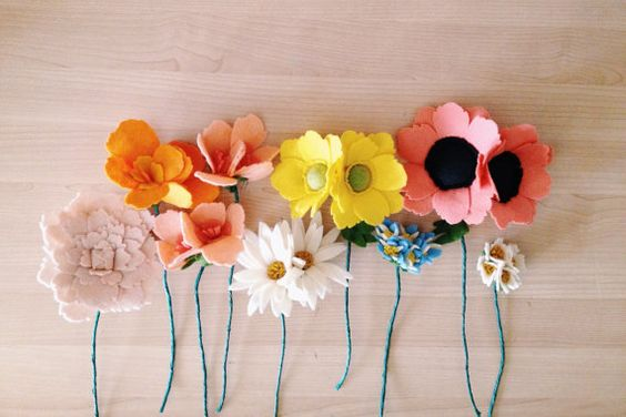 wildflower wedding centerpieces by handmadecolectibles on Etsy, $300.00