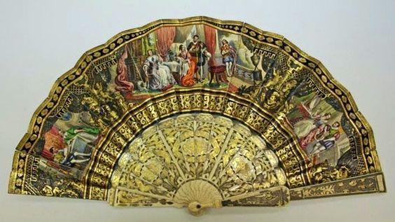 Beautifully hand-painted fan: