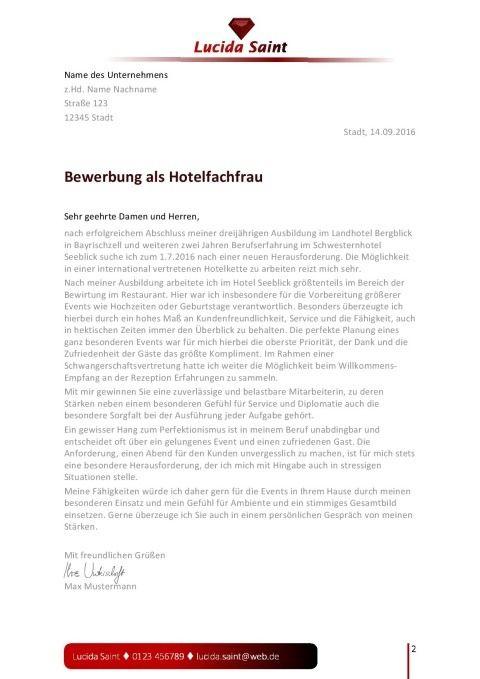 Bewerbungsvorlage Hotelfachfrau Mann Bewerbung Bewerbungsdesign Bewerbung Design