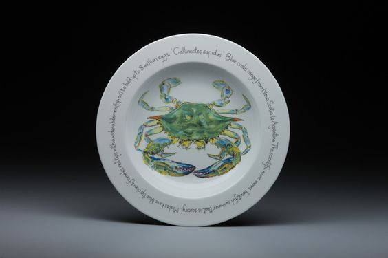 Blue Crab Plate from Red Cabin Pottery