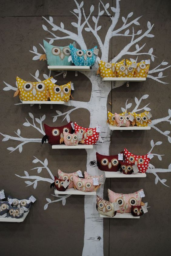 Owls on tree Pinned by www.myowlbarn.com