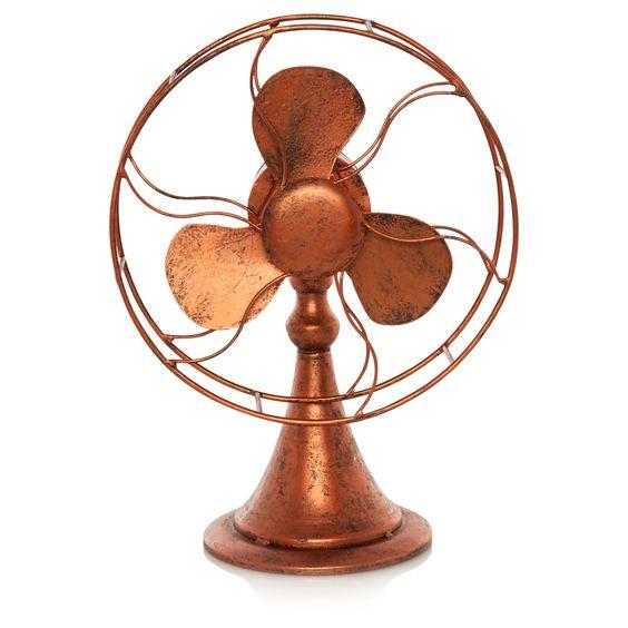 George Home Copper Effect Fan Ornament | Ornaments | ASDA direct