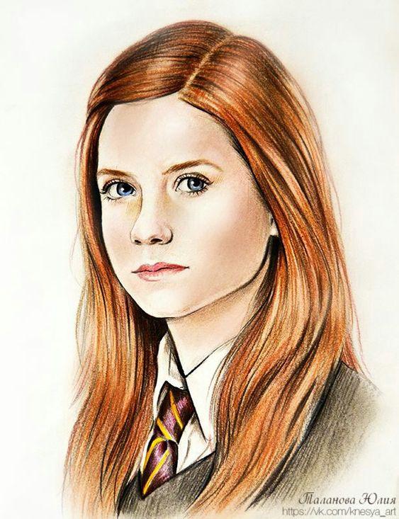 Blue eyes, red hair - Ginny Weasley. 3a32422c4efe2191eca9b4dedd92b225