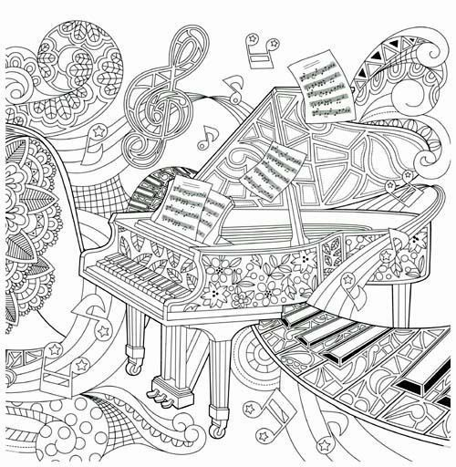 - Piano Coloring Pages Best Of 1491 Best Coloring Pages Images On Pinterest  Of Piano Coloring Pages Luxury Music Col… Music Coloring, Coloring Books, Coloring  Pages