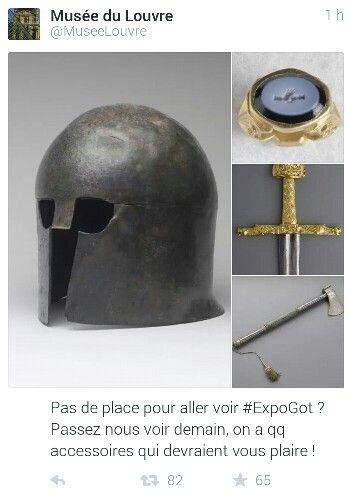 Quand le Louvre rebondit sur l'exposition #GoT