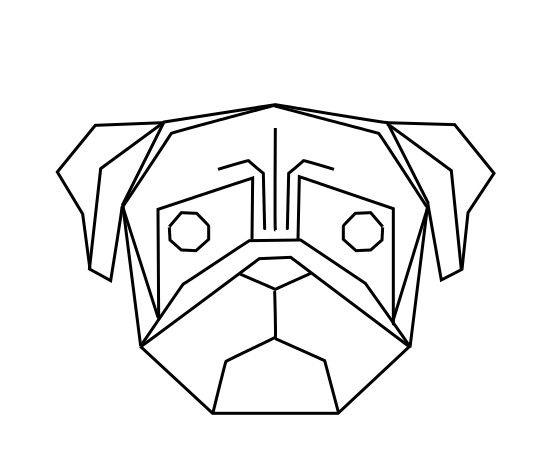 Chiens on pinterest for Dessin en forme geometrique