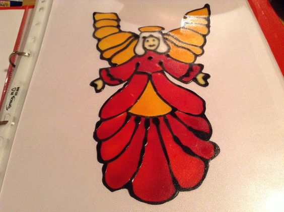 Angel window cling made by me x
