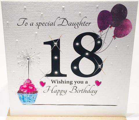 Large 18th Birthday Card Daughter Herbysgifts Com 18th Birthday Cards 18th Birthday Happy 18th Birthday Quotes