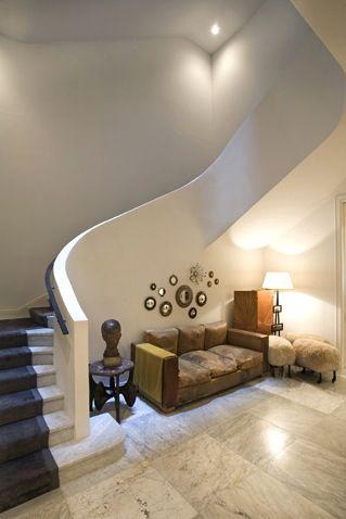 Guggenheim inspired staircase - home of Krakoff