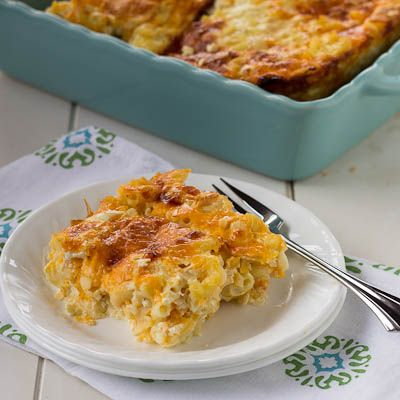 Baked custard-style mac and cheese